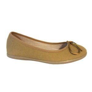 Zapatos niña tipo bailarina de lona con lacito Chuches