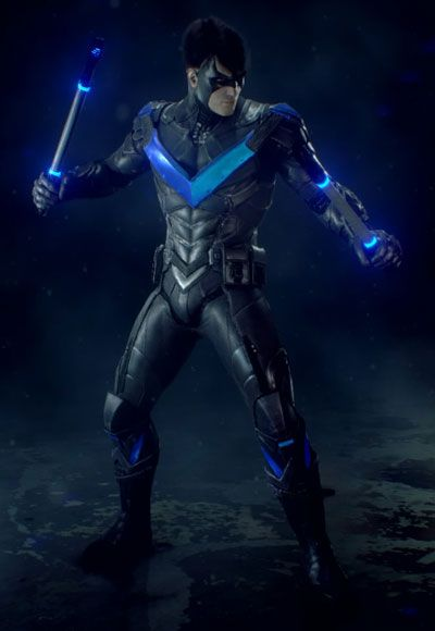 Batman -- Arkham Knight - Nightwing Cosplay Costume Version 09 - Cosplay House