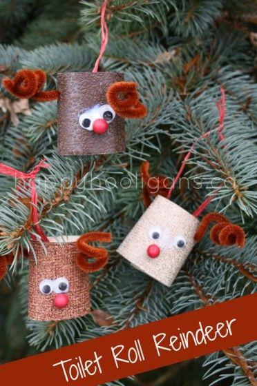 Toilet Roll reindeer - 31 Wonderful DIY Christmas Decorations