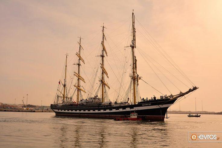 """Το Ρωσικό ιστιοφόρο """"Kruzensthern"""" αφίχθη στο λιμάνι της Αλεξ/πόλης."""