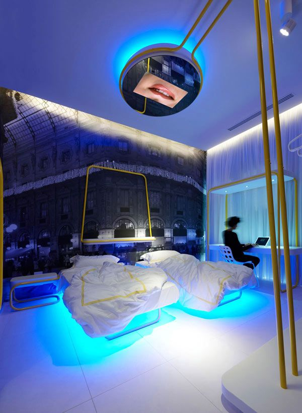 Futuristic Lighting  Town   House Street 12 Milans Four Boutique Hotel  Suites Boasting Incandescent Design. 176 best Futuristic bedrooms images on Pinterest   Dome homes and