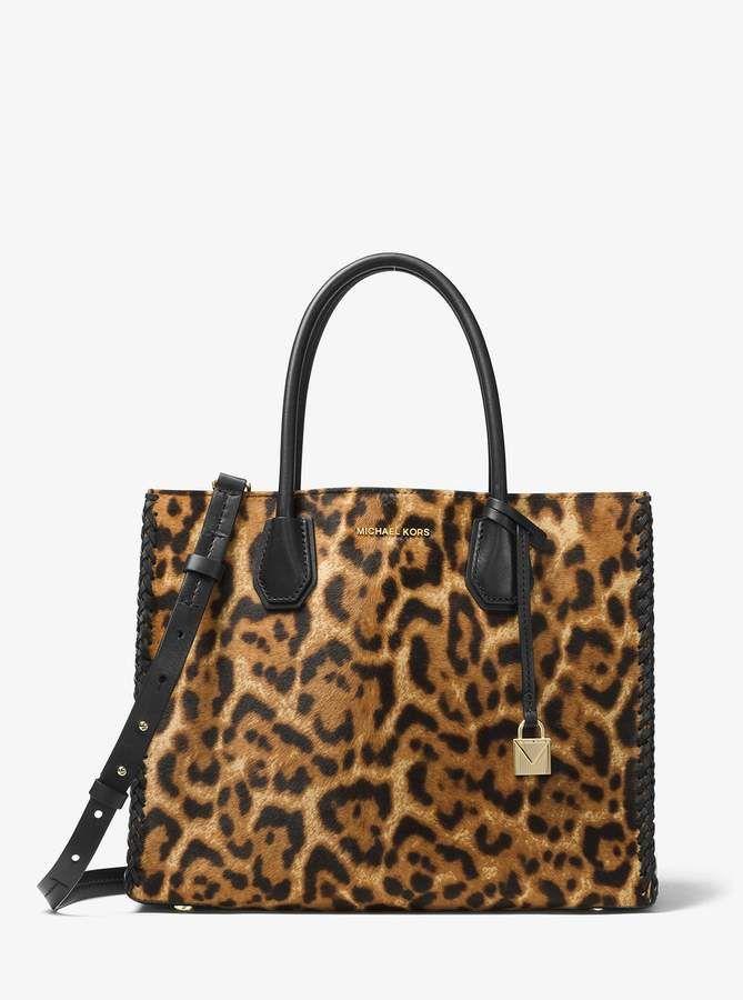 Michael Kors Mercer Leopard Calf Hair Tote