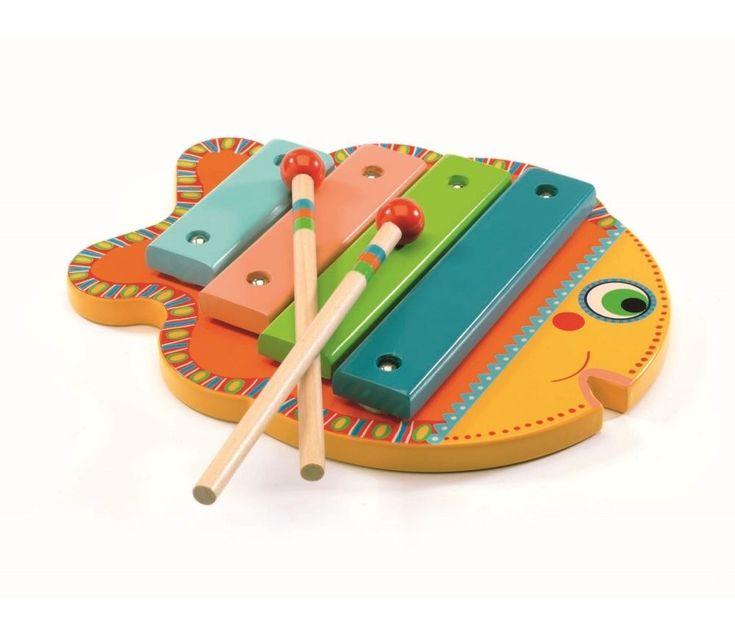 Instrument, fiskeformet xylofon