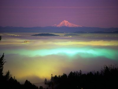 willamette river valley in fog