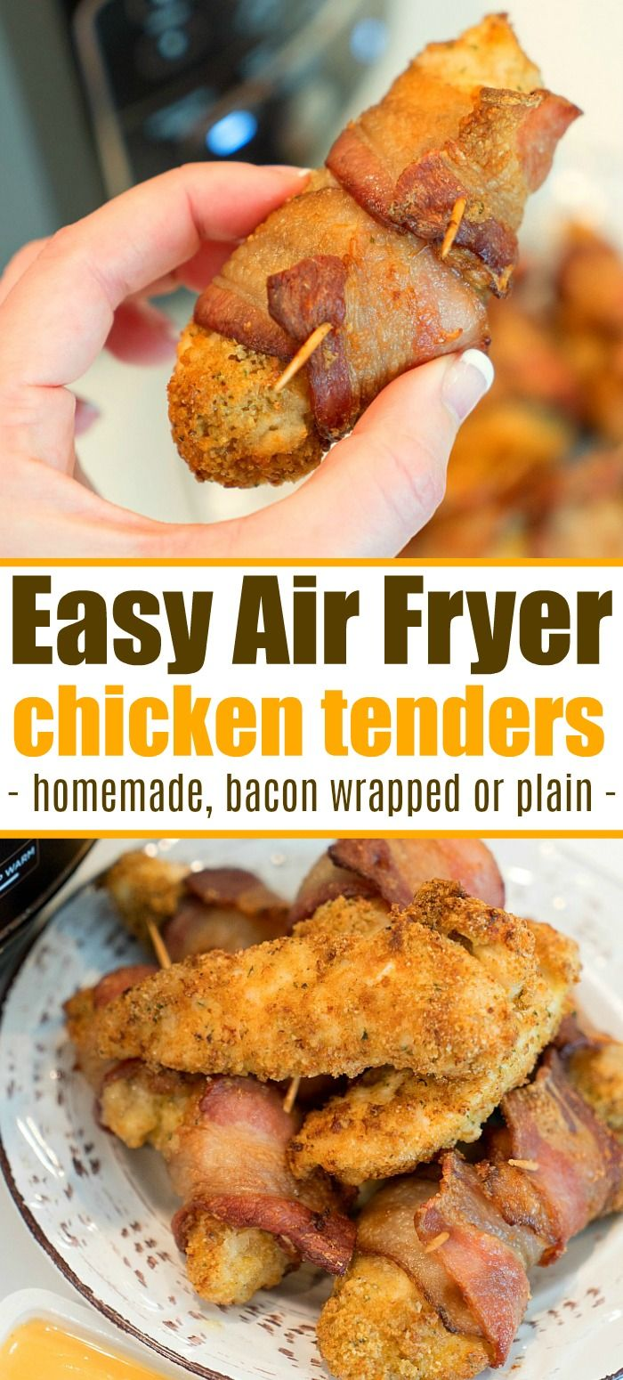 Homemade Ninja Foodi Chicken Tenders Wrapped In Bacon Are Here For You To Enjoy Tonight Easy 20 Minute Air Fryer Dinn Recipes Easy Meals Walnut Chicken Recipe