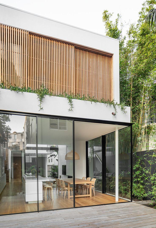 Cloud House Akin Atelier Vitrocsa Australia ® thin aluminium sliding doors is part of Facade house - Design Exterior, Interior And Exterior, Interior Doors, Facade Design, Modern Exterior, Exterior Tradicional, Aluminium Sliding Doors, Sliding Windows, Aluminium Cladding