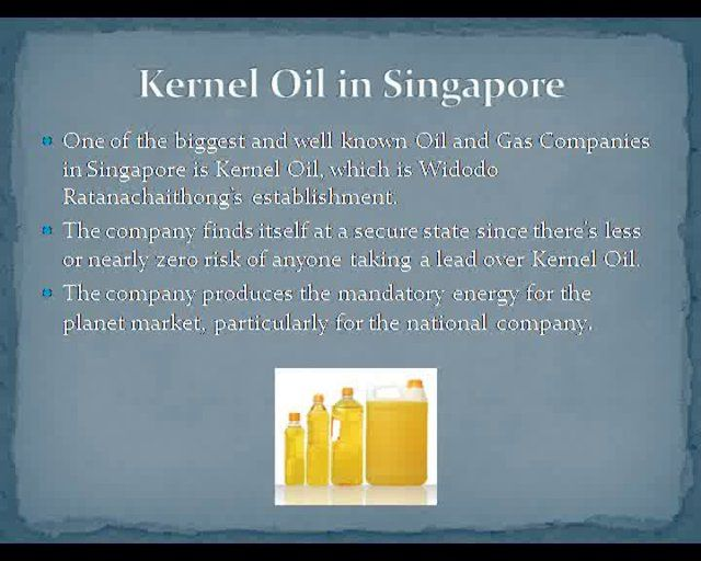 Kernel Oil Pte Limited (KOPL) was established in 2006 and maintains its headquarters at Singapore with its branches in Indonesia, United Arab Emirates (UAE), Thailand and Australia. The company basically trades in gasoline, crude oil, hydrocarbons, asphalt and other organic and chemical compounds and their products and with the countries of Persian Gulf, Far East, the Mediterranean and West African but mainly with countries of South east Asian region.