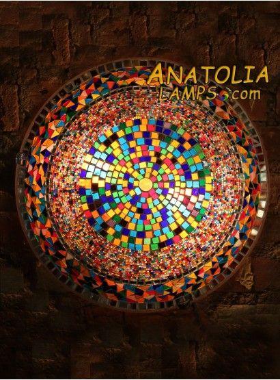 Turkish Mosaic Wall Lamp Big Sconce-09