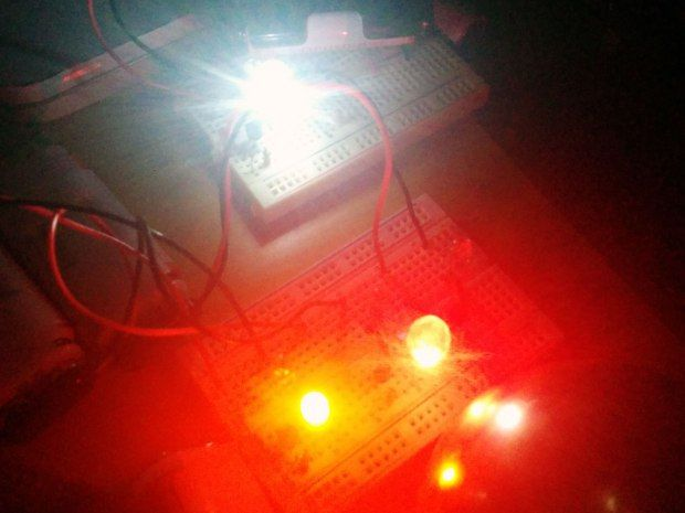 Dark-Detecting LED: Build a simple light-sensing circuit that switches an LED on when the lights go out.