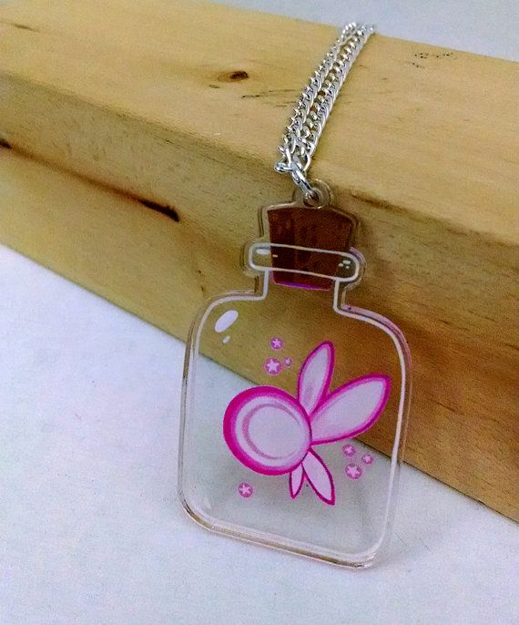 Fairy in a Bottle clear acrylic charm necklace by theGorgonist