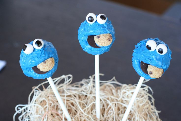 Cookie Monster Cake Pops | Flickr - Photo Sharing!