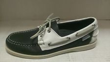 SEBAGO MEN'S DOCKSIDES  BOAT SHOE IN NAVY/WHITE SIZE 7.5M