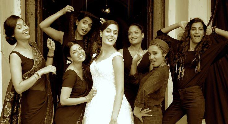 Sandhya Mridul, Tannishtha Chatterjee, Sarah-Jane Dias, Amrit Maghera, Rajshri Deshpande, Anushka Manchanda, and Pavleen Gujral in Angry Indian Goddesses (2015)