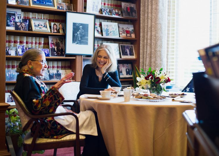 Justice Ruth Bader Ginsburg and Gloria Steinem (Photo: Hilary Swift for The New York Times)