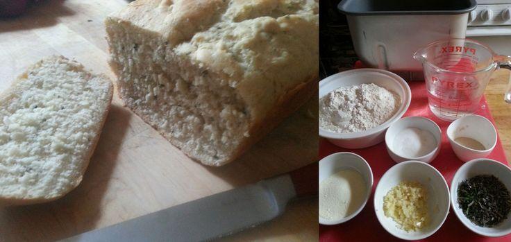 Rosemary, thyme and garlic bread