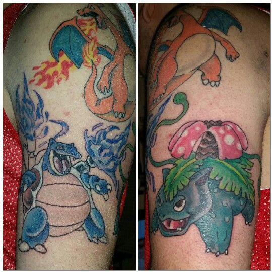 Pokemon tattoo charizard venusaur blastoise tattoos #pokemontattoo #charizardtattoo #charizard #blastoise #venusaur
