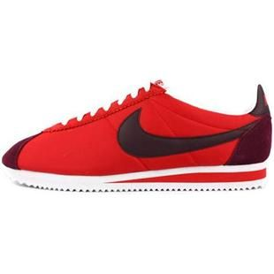 http://www.asneakers4u.com/ Oxford Cloth Shoes Men Nike Cortez Red Black