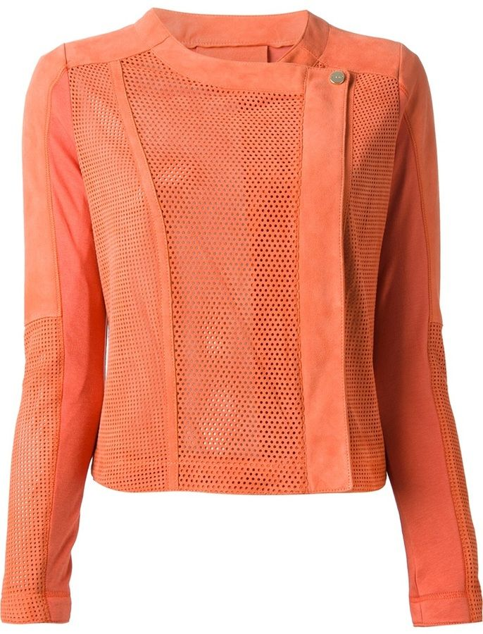 Pinko perforated jacket on shopstyle.com