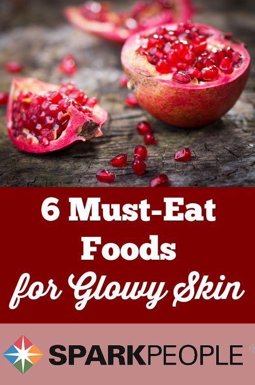 The 6 Best Foods for Glowy Skin   via @SparkPeople #health #beauty #healthyskin #eatbetter #nutrition