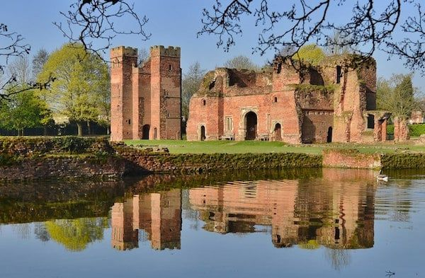 Kirby Muxloe Castle, also known as Kirby Castle, is a ruined, fortified manor house in Kirby Muxloe, Leicestershire, England. William, Lord Hastings, began work on the castle in 1480, founding it on the site of a pre-existing manor house.  Today Kirby Muxloe Castle is managed by English Heritage as a tourist attraction.
