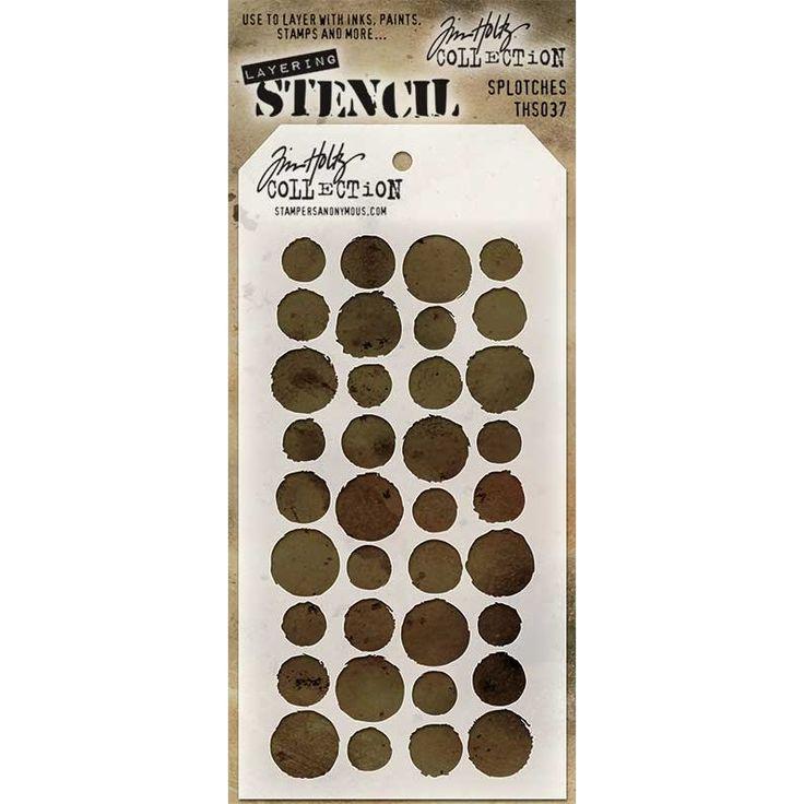 Tim Holtz Layering Stencil - Splotches THS037