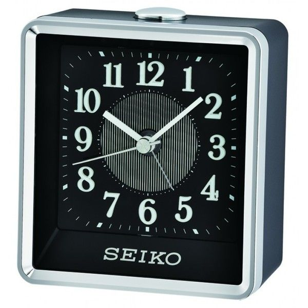 Seiko Clock - Rooney Alarm Clock QHE142KLH (2.430 RUB) ❤ liked on Polyvore featuring home, home decor, clocks, battery alarm clock, snooze alarm clock, contemporary home decor, alarm-clock and alarm clock