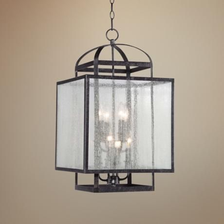 "Camden Square 15"" Wide Aged Charcoal Pedant Light - #5W031 