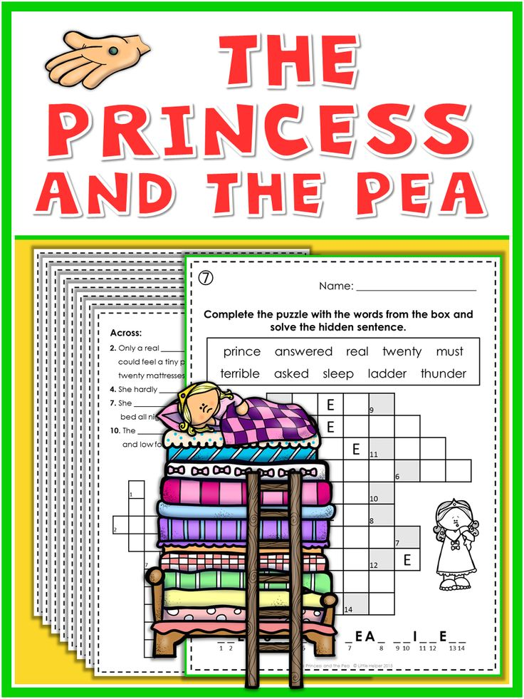 The Princess and the Pea Puzzle Fun Homework and Worksheets
