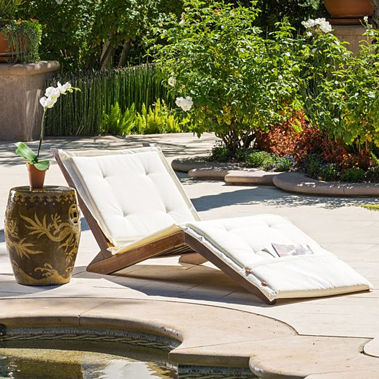 Outdoor Best Selling Home Carrol Chaise Lounge With Cushion   295374