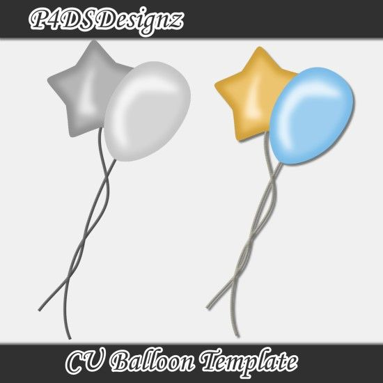 CU Balloon template, forum only freebie by P4DsDesigns
