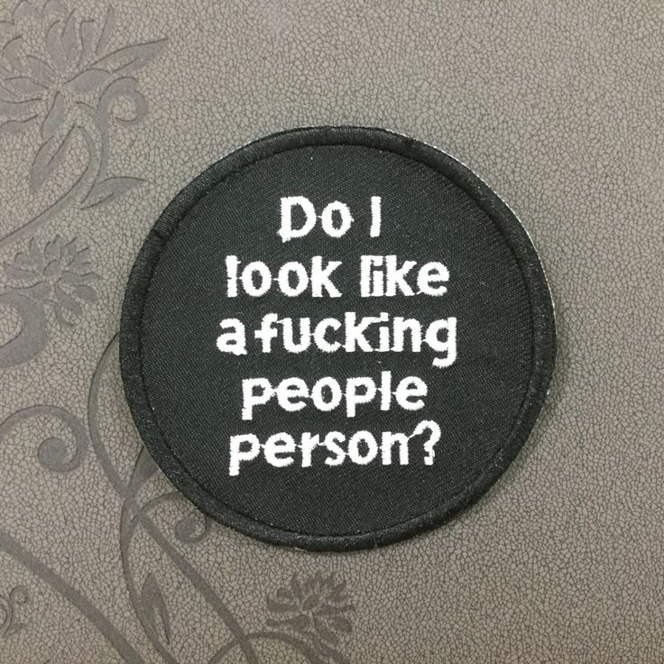 Do I look like a fucking people person Note patch Embroidered Iron On Patches sew on patches Punk