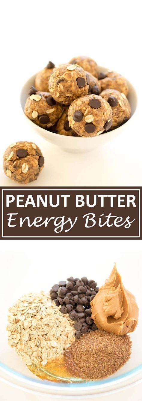 No Bake 5 Ingredient Peanut Butter Energy Bites. Loaded with old fashioned oats, peanut butter and flax seeds. Pinterest|| stellastrouse