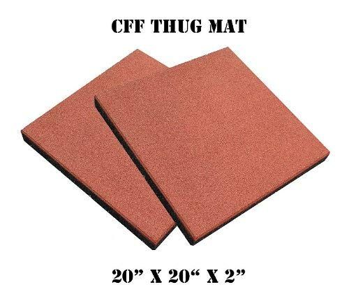 Cff Thug Mat 2 Inch Thick High Impact Rubber Gym Mat Pair Review Rubber Gym Mats Gym Mats Mat Exercises