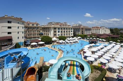 Grand �eker Hotel Side Situated in Side in the Mediterranean Region Turkey Region, 7 km from Side Antique City, Grand ?eker Hotel features a spa centre and sauna. There is a restaurant and bar and guests can have fun at the water park.