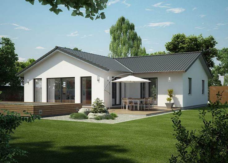Skandinavischer bungalow  Mandö von Danhaus | Bungalow | Satteldach | house | Pinterest ...