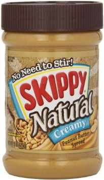 Skippy Natural Peanut Butter, Creamy, 15 Oz, 2016 Amazon Top Rated Jams, Jellies & Sweet Spreads  #Grocery