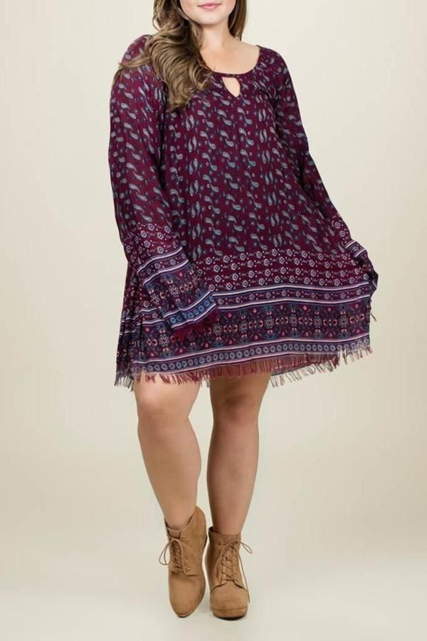 Plus Size Boho Dress