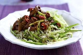 Spiced Thai beef salad with wild rice recipe - goodtoknow