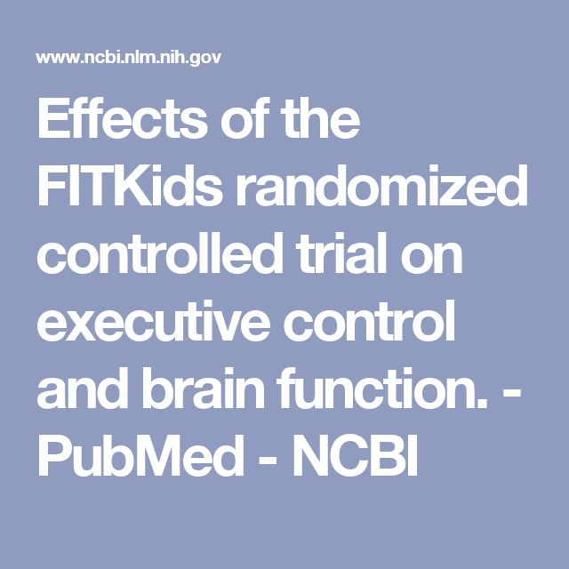 Effects of the FITKids randomized controlled trial on executive control and brain function. - PubMed - NCBI