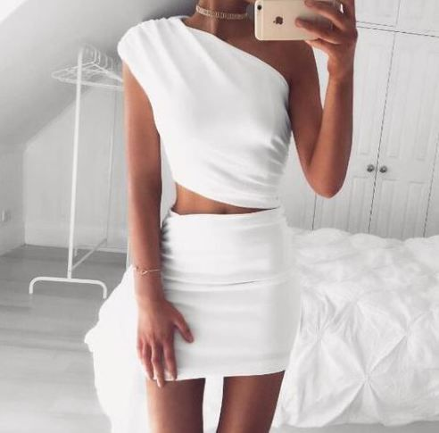 Two-piece sets are perfect sexy club dresses!