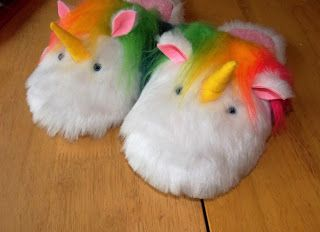 Liana Marcel - Keep calm and craft!: Lenny The Unicorn DIY plush rainbow slippers from ...