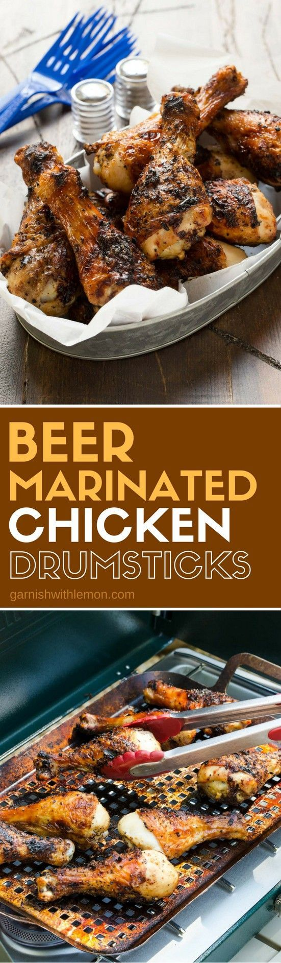 Beer Marinated Chicken Drumsticks are just what your tailgate needs to go from good to great! A quick soak in this flavorful marinade gives your chicken a juicy taste that can't be beat!