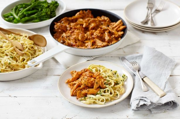 Twist up the menu with this chicken version of traditional stroganoff.