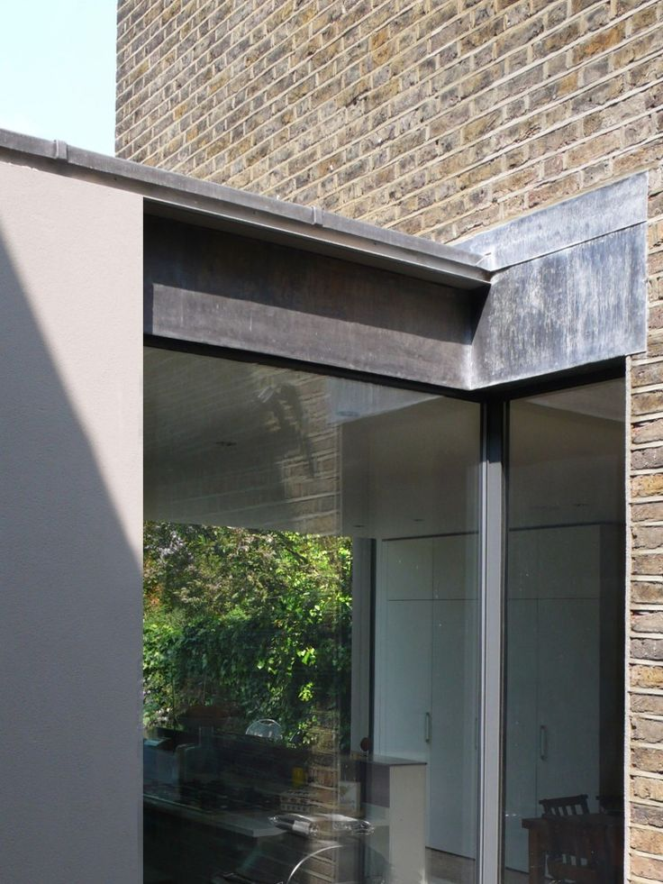 thin roof trim - indent fascia - Stamford Brook, London - McLaren Excell