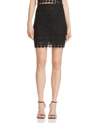 AQUA Lace Mini Skirt - 100% Exclusive   Bloomingdales's