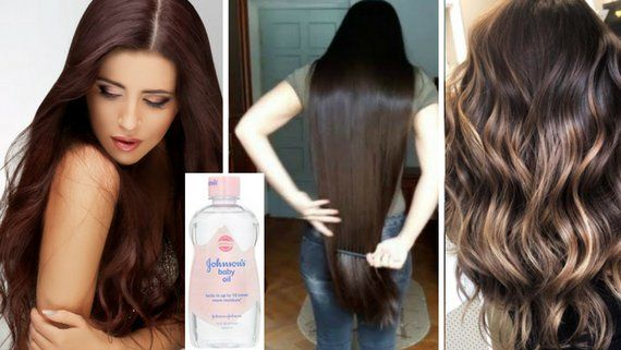 Baby oil for hair growth