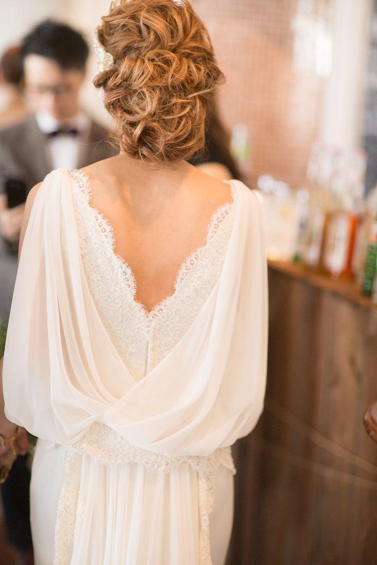 パーティー中の新婦様 ウェディングドレス