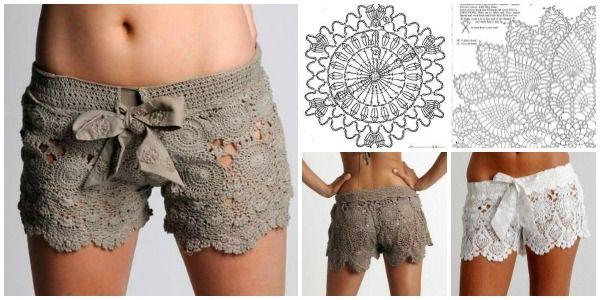 DIY Crochet Lace Short Free Pattern | www.FabArtDIY.com