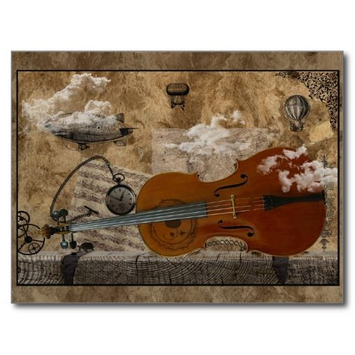 Cello Steampunk Suite Postcard