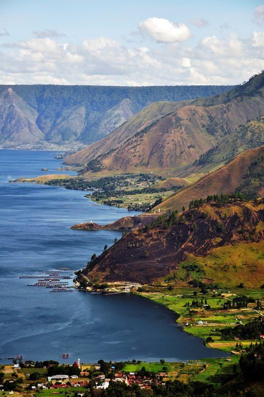 Lake Toba  the largest resurgent caldera on Earth, situated on the Island of…